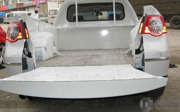 国内牛人车主打造首台迈腾皮卡车-皮卡车大全