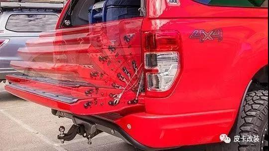 皮卡车的尾门助力阻尼改装